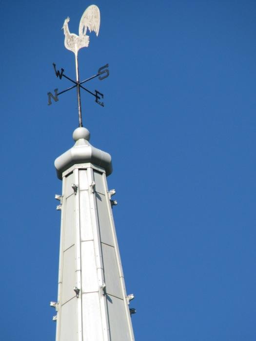 1st Reform Church chanticleer, Schenectady Stockade, Labor Day, September 1, 2008 chanticleer