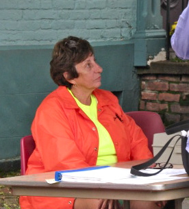 Connie Colangelo briefly gets to sit down 12Sep09