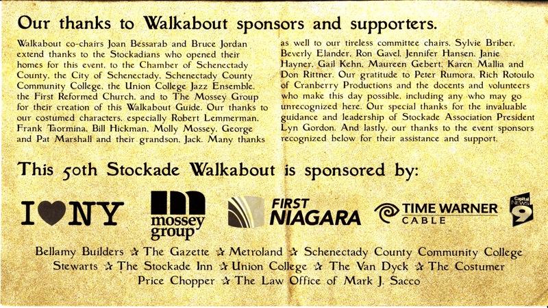 Walkabout2009 - list of sponsors, supporters, committee volunteers