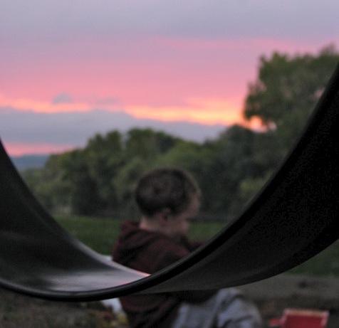 Impressionist Sunset - Devin at Riverside Park, Schenectady - 03Oct09