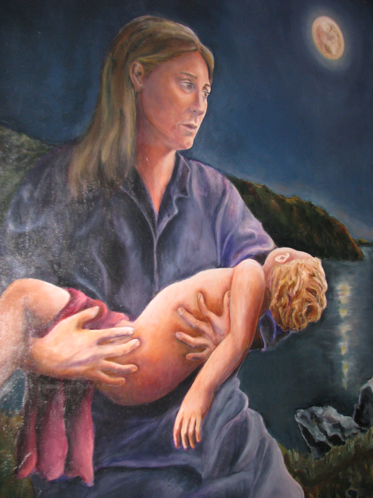 sad painting by em