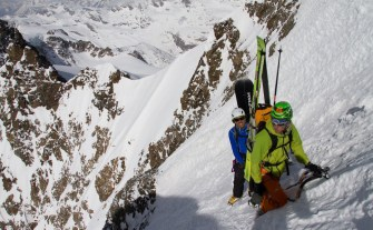 6pizzo bernina scialpinismo direttissima canale sud sci mountainspace giacomo longhi (7)