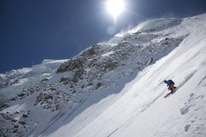 Fletschorn discesa sci parete nord via viennesi scialpinismo sci ripido giacomo jack longhi mountainspaceIMG_4738