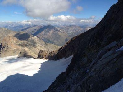 Piz cambrena via del seracco scivolo nord piz arlas piz palu mountainspace skialper bernina diavolezza alpinismo engadina palù naso ghiaccio giacomo longhi michele gusmini (10)