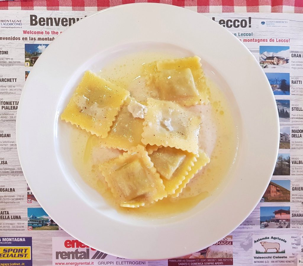Fagottini Funghi Gorgonzola Noci Rifugio Riva