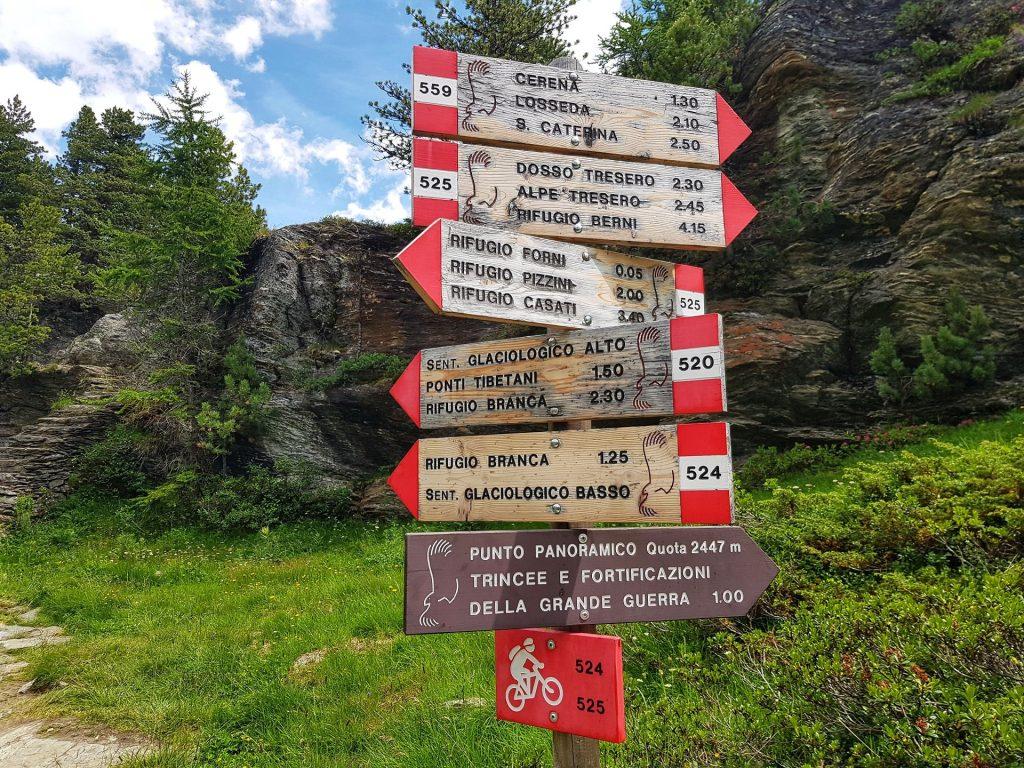 indicazioni sentiero glaciologico