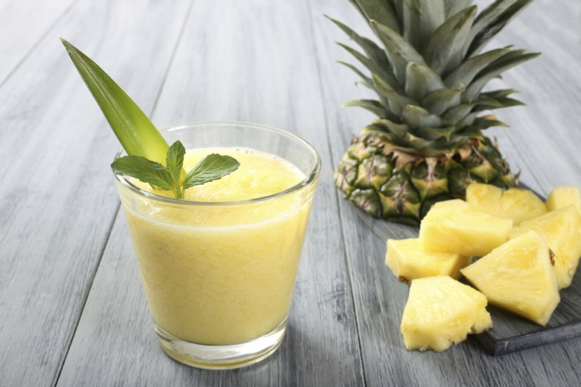 smoothie di zenzero e ananas