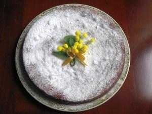 torta con crema pasticciera e melagrana