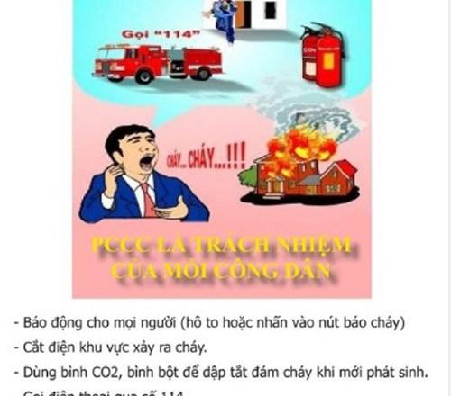 Cẩm nang phòng cháy chữa cháy và 19 phương pháp thoát nạn khi xảy ra cháy nổ