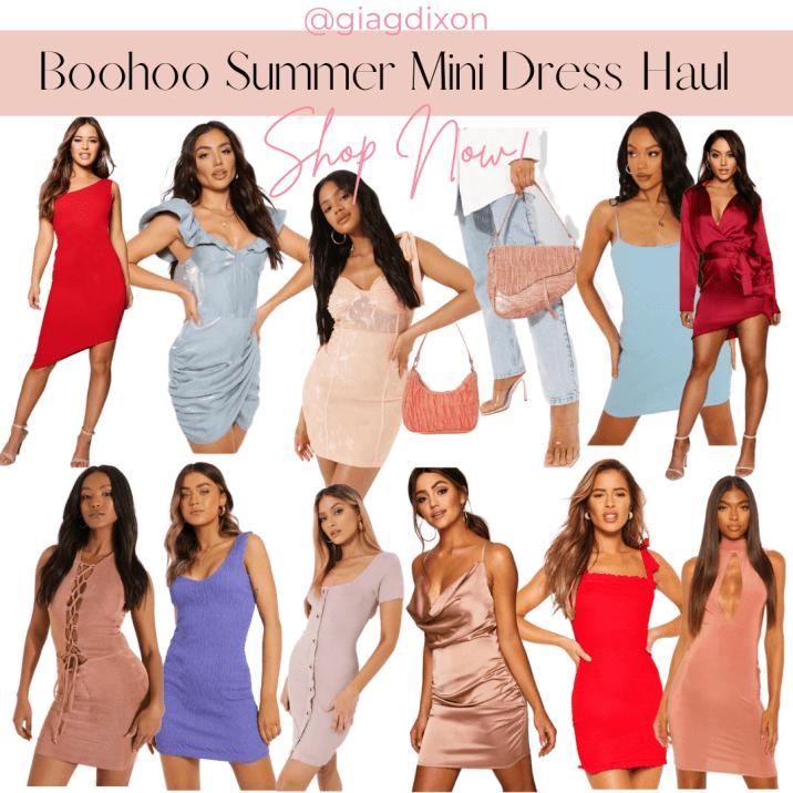 booohoo summer mini dress haul