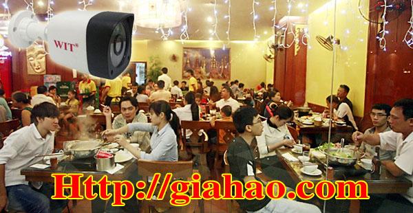 Nhiều khách hàng khi lắp đặt camera quan ăn, khu ẩm thực đã chọn lựa Camera quan sát quán ăn WIT-2106SMA20 của công ty Tin Học Gia Hào do được trang bị 6 LED Sigma và chipset AHD chuẩn HD 1.0Mp