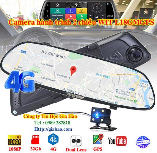 Camera hành trình ô tô quan sát từ xa 4G có định vị WIT L18MGPS 5 in 1 của công ty Tin Học Gia Hào còn có chức năng của máy tính bảng khi có thể xem Youtube, lướt Web, nghe nhạc,...