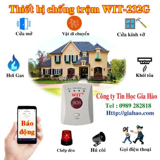 Khi có tín hiệu bất thường, thiết bị chống trộm nhà xưởng qua điện thoại dùng SIM WIT-232G của công ty Tin Học Gia Hào sẽ chớp đèn, hú còi và báo qua điện thoại