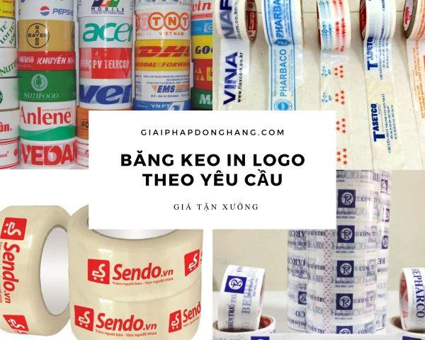 Băng keo in logo theo yêu cầu