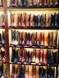 Hand made boots and other cowboy gear at Burns 1876 at Fashion Island, Newport Beach.