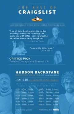The Best of Craigslist LIVE Hollywood Fringe Festival