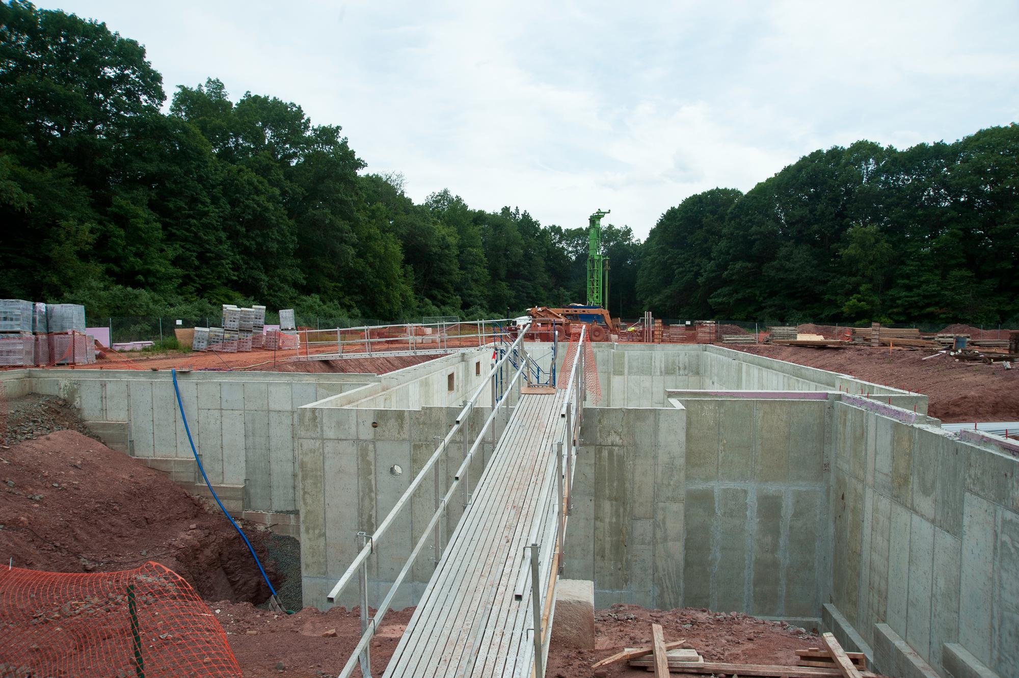 construction and progress photo by John giammatteo of Kohler Environmental Center