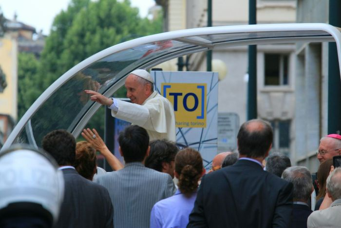 Papa Francesco a Torino in occasione dell'Ostensione della Sindone e del Bicentanrio della nascita di Don Bosco - Mark Hole © 2015