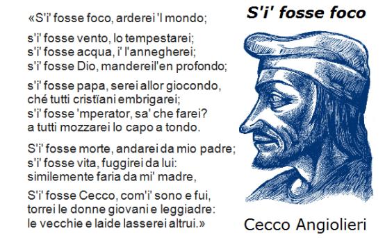 """S'I' FOSSE PAPA è un Remix del celebre sonetto """"S'i' fosse foco"""" di Cecco Angiolieri"""