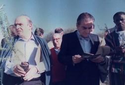 Gerusalemme 1988. Con Bruno Zevi e Sergio Stanzani.