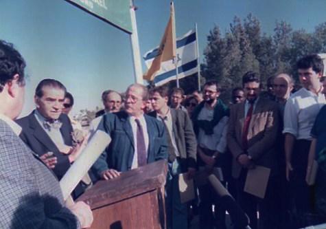 Gerusalemme 1988 Con Bruno Zevi e Domenico Modugno