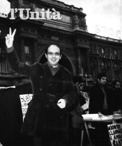 Manifestazione pro aborto dopo scarcerazione dalle Murate 1975