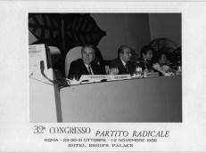Congresso radicale 1986 con E.Tortora, M.Teodori ed Emma Bonino