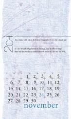 side effects calendar • 2c-i [november]