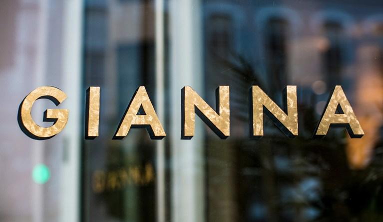 Gianna Restaurant Lettering