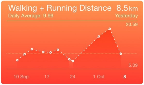 RunKeeper data in the Health app