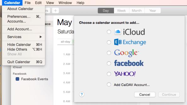 Adding Google calendar to OS X