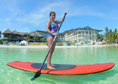 2016-05-22 First time on the paddleboard in beautiful Bohol