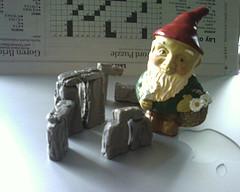 Gnome Building Stonehenge
