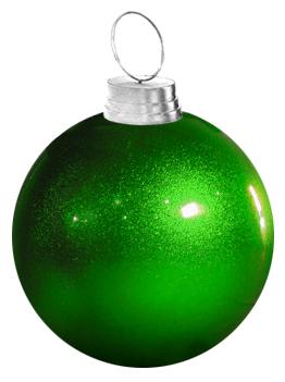 "36"" Large Green Fiberglass Christmas Ornament"