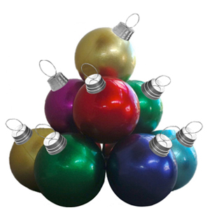 10-Ball Giant Christmas Ornament Stack