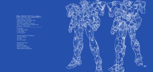 00 Gundam Blue Print Wallpaper 1920 x 1080
