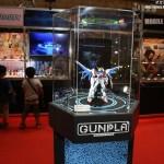 "Exhibition corner of ""RG build Strike Gundam full package."