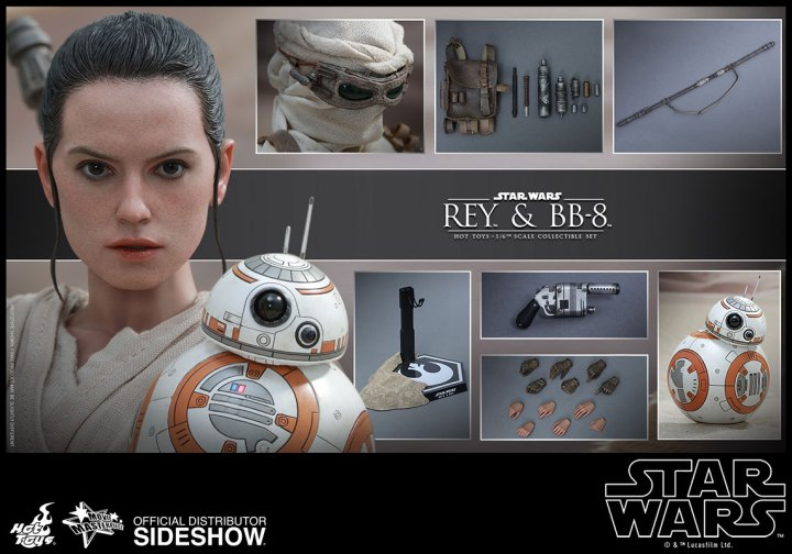 hot toys star wars rey and bb8 accessories