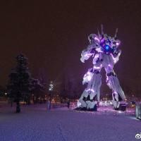Snowy Unicorn Gundam at Tokyo Gundam Base!