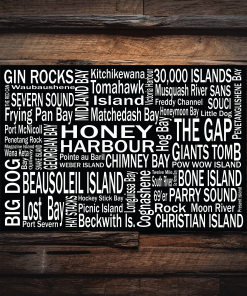 Canvas Print | Georgian Bay Destinations | Giants Tomb Trading Co - Honey Harbour