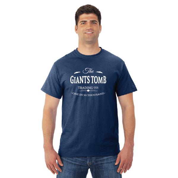 Men's T-Shirt | GTTC Active Blend | Heather Navy Front
