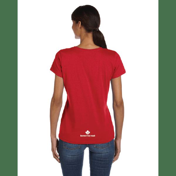 WOMEN'S T-SHIRT | GTTC HD COTTON - Red - Back