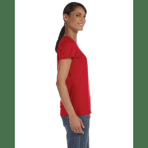 WOMEN'S T-SHIRT | GTTC HD COTTON - Red - Side