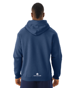 Women's Hoodie & Men's Hoodie | NuBlend | Giants Tomb Trading Co-Vintage Heather Navy - Back