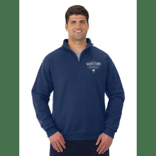QUARTER ZIP SWEATSHIRT | GTTC NUBLEND | UNISEX - Navy - Front