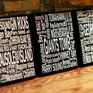 Canvas Print | 30,000 Destinations Square | Giants Tomb Trading Co - 3