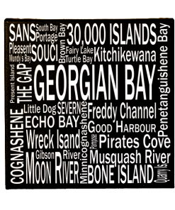 Canvas Print | Georgian Bay Destinations Square | Giants Tomb Trading Co - Georgian Bay