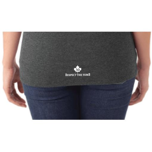 WOMEN'S T-SHIRT V-NECK | GTTC TRI-BLEND - Black - Close Up