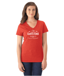 WOMEN'S T-SHIRT V-NECK | GTTC TRI-BLEND - Red - Front
