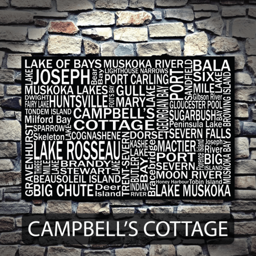 Personalized Canvas Print | Muskoka Destinations | Giants Tomb Trading Co - Cambell's Cottage